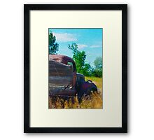 Abandoned old truck Framed Print