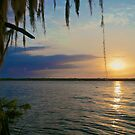 Flat Lake Sunset - Atchafalaya Basin by Mike Capone