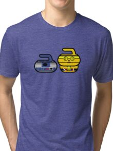Rock2 & The Golden Rocker - Curling Rockers Tri-blend T-Shirt