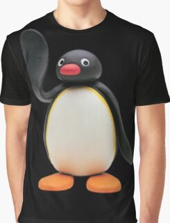 pingu waving Graphic T-Shirt