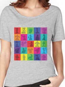 Toys For Games Color Grid Women's Relaxed Fit T-Shirt