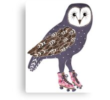 I skate OWL night long Canvas Print