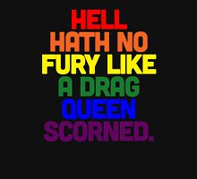 Hell Hath No Fury Like a Drag Queen Scorned (Sylvia Rivera Quote) Mens V-Neck T-Shirt