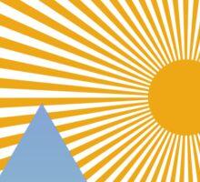 Mountain Sun Sticker