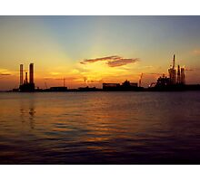 Dusk on the harbor Photographic Print