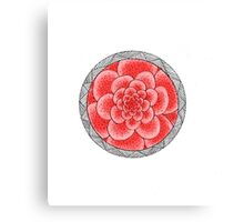 flower with striped round pink Canvas Print