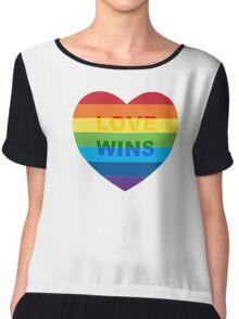 Gay pride heart / LGBT Chiffon Top