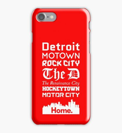 Detroit Is My Home. iPhone Case/Skin