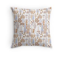 Forest Pattern Throw Pillow