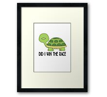 did i win the race, funny Animal Framed Print