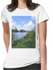 Across the Water Womens Fitted T-Shirt