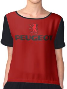 PEUGEOT RED Chiffon Top