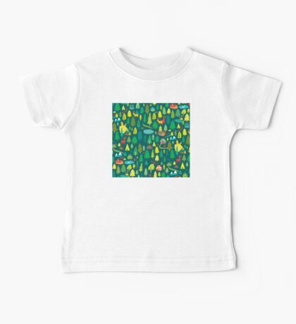 Green Forest Pattern Baby Tee