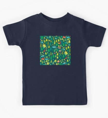 Green Forest Pattern Kids Clothes