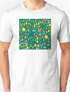 Green Forest Pattern Unisex T-Shirt