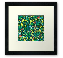 Green Forest Pattern Framed Print