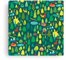 Green Forest Pattern Canvas Print