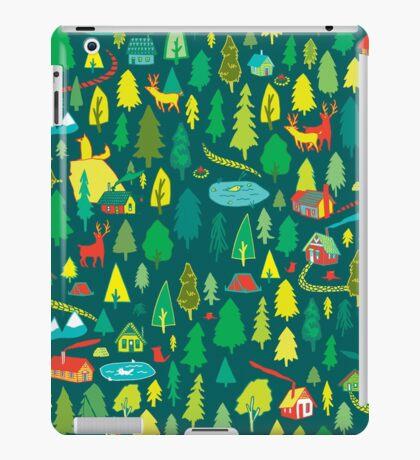 Green Forest Pattern iPad Case/Skin