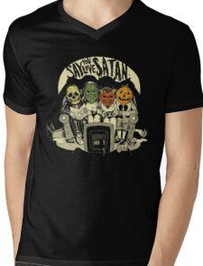 Say You Love Satan 80s Horror Podcast Logo Mens V-Neck T-Shirt