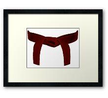 Martial Arts Red Belt Framed Print
