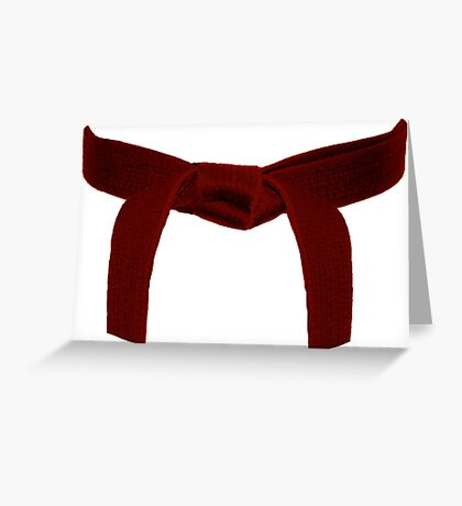 Martial Arts Red Belt Greeting Card