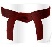 Martial Arts Red Belt Poster