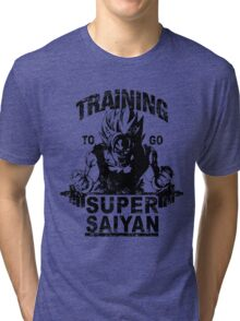 Training to go ssj - vintage Tri-blend T-Shirt