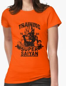 Training to go ssj - vintage Womens Fitted T-Shirt