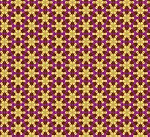 Gold+Pink Hexagon Pattern by ARTDICTIVE