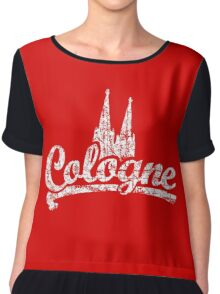 Cologne Classic Vintage Rot/Weiß Chiffon Top