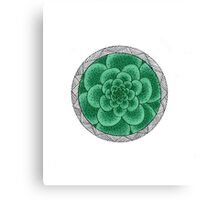 flower with striped round mint Canvas Print