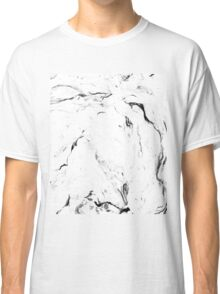 White Marble #redbubble #lifestyle Classic T-Shirt