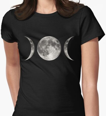 Magical Moon Womens Fitted T-Shirt
