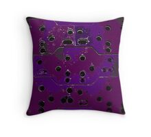 Rust With Holes Purple Throw Pillow