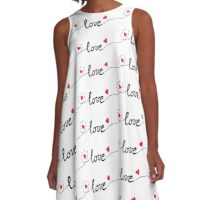 love typo with hearts A-Line Dress