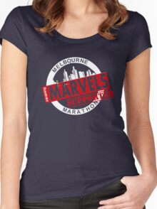 Melbourne Marvel Supporters Range red Women's Fitted Scoop T-Shirt