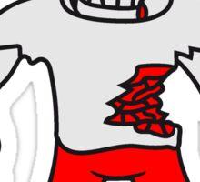 glücklicher untoter monster halloween horror comic cartoon design zombie  Sticker