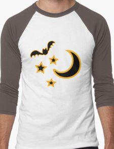 Half Moon and stars & bat Men's Baseball ¾ T-Shirt