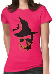 Halloween skull Womens Fitted T-Shirt