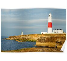 Morning at Portland Bill Lighthouse Poster