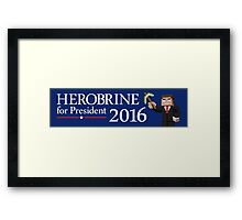 Herobrine for President Framed Print