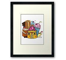 Sweet castle Framed Print