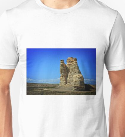Kansas Castle Rock with Bluesky Unisex T-Shirt