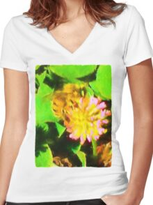 Bee and Clover Women's Fitted V-Neck T-Shirt