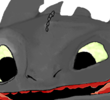 Toothless Says Smile! Sticker
