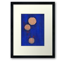 Golden Orbs - Vertical Framed Print
