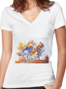 akwarelka 57 Women's Fitted V-Neck T-Shirt