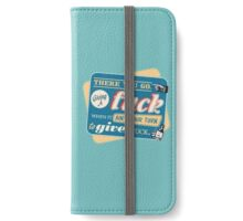 """Ain't Your Turn to Give a Fuck"" - The Wire (Colorful Light) iPhone Wallet/Case/Skin"