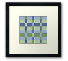 knitted geometric pattern Framed Print