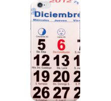 calendar with numbers iPhone Case/Skin
